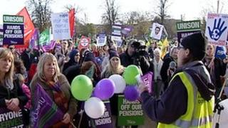 Protest rally in Gloucester