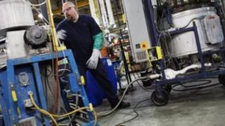Factory floor in US plastics factory