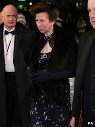 The Princess Royal arrives at the Lowry