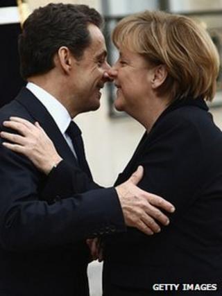 President Nicolas Sarkozy and Chancellor Angela Merkel. 5 Dec 2011