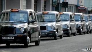 London taxi rank