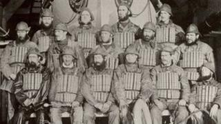 The Lytham Lifeboat Charles Biggs with the crew who rescued the 12 men from the Mexico