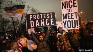 Protesters in Moscow 10 Dec 2011