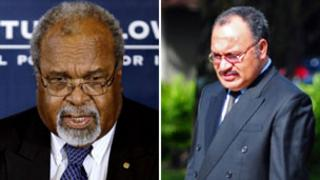 Papua New Guinea's Sir Michael Somare and Peter O'Neill (AP/AFP)
