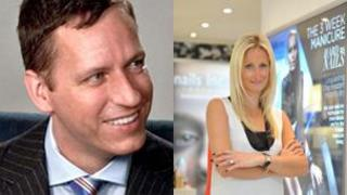 Peter Thiel and Thea Green. Photo of Peter Thiel: The Thiel Foundation