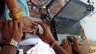 UID number being taken in India