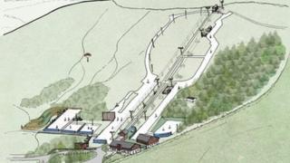 Hillend dry ski slope (Artist's impression)