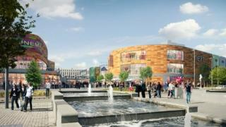 Artist view of John Frost Square plans by Queensberry