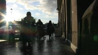 Sunlight on street