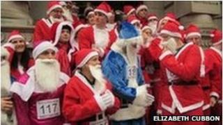 Santa Dash 2011 by Elizabeth Cubbon
