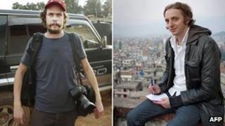 Left: Johan Persson (Photo credit: AFP/Scanpix/ Kontinent Agency). Right: Martin Schibbye (Photo credit: AFP / Scanpix/Kontinent Agency/Jonas Gratzer