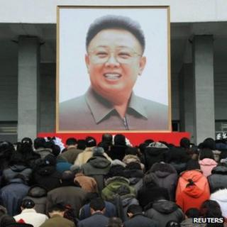 North Koreans mourn Kim Jong-il in Pyongyang. Photo: 21 December 2011