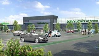 Proposed Waitrose and John Lewis at Home store in Ipswich