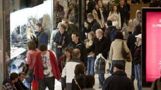 Christmas shoppers at Union Square in Aberdeen