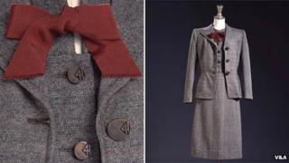 Woollen dress designed by Digby Morton under CC41 regulations