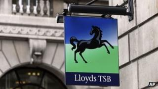 Lloyds TSB branch sign