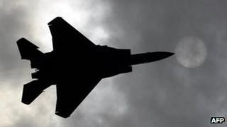 A F-15 performs during MAKS-2011 in Moscow 16 August 2011