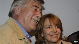 File photo of Carlos Soria and Susana Freydoz from 25 September 2011