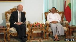 Burmese Myanmar Foreign Minister Wunna Maung Lwi.