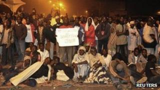 Nigerians protesters in central Kano on Wednesday 4th January 2012