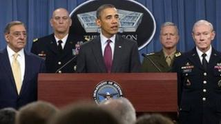 President Obama and defence chiefs