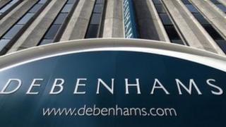 Debenhams sign