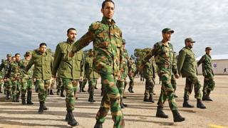 New recruits training in Zawiyah