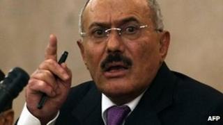 Yemeni President Ali Abdullah Saleh (file image)