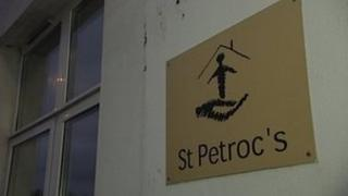 St Petroc's sign