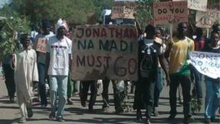 Protesters in Kano, Nigeria. Copyright: Muhammad Abubakar