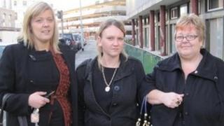 Amy Stevens (L), Sheena Tippett, Heather Stevens