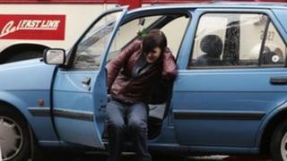 Kathy Kiera Clarke as Una in BBC series Pulling Moves