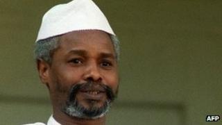 Chad's then President Hissene Habre, in 1989 in Paris