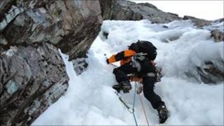 Ice climber. Pic: Chris Sleight