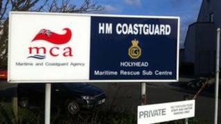 Holyhead Coastguard sign
