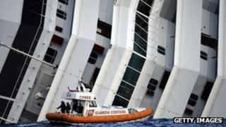 Coastguard next to the Costa Concordia