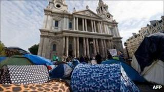 Occupy London camp outside St Paul's Cathedral