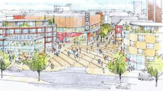 Artist's impression of proposed new look for Broadmayne and cinema in Basildon town centre