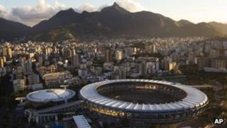 Maracana football stadium in Rio de Janeiro