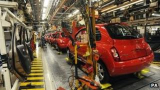 Nissan production line in Sunderland