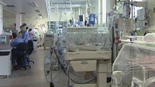 The neo-natal unit at the Royal is undergoing a deep clean
