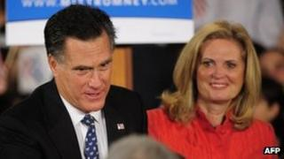 Mitt Romney and wife Ann after defeat in South Carolina primary - 21 January