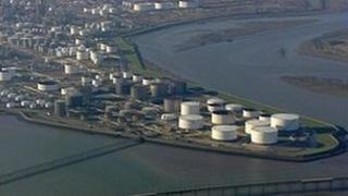 Coryton oil refinery