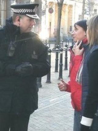 Chief Constable Tony Melville on the streets of Gloucester