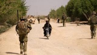 British soldiers on patrol