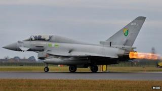 Typhoon aircraft from RAF Coningsby