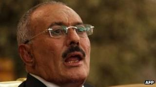 Yemeni President Ali Abdullah Saleh (24 December 2011)