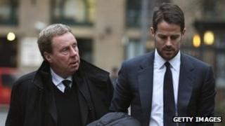 Harry Redknapp and his son Jamie arriving at Southwark Crown Court on 30 January