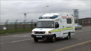 Ambulance driving on road