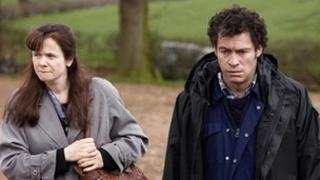 Emily Watson as Janet Leach and Dominic West as Fred West in ITV1's Appropriate Adult